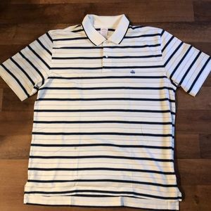 Brooks Brothers Polo Shirt XL Striped Cotton